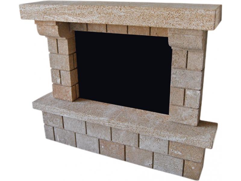 Chimenea de piedra tosca mod montg - Lana de roca para chimeneas ...