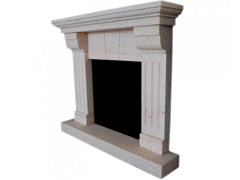 Chimenea de piedra natural mod rebald for Molduras para chimeneas