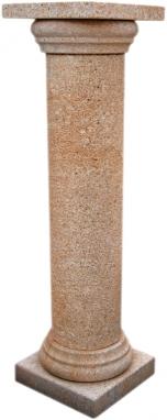 Columna de piedra natural mod. Redonda abujardada
