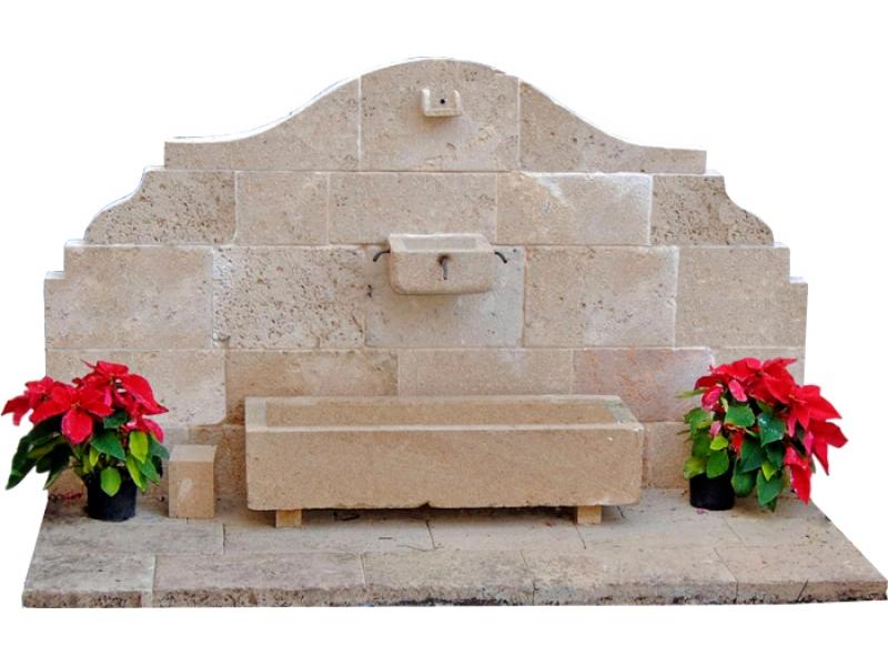Fuente de piedra tosca mod costa blanca - Fuentes de piedra antiguas ...