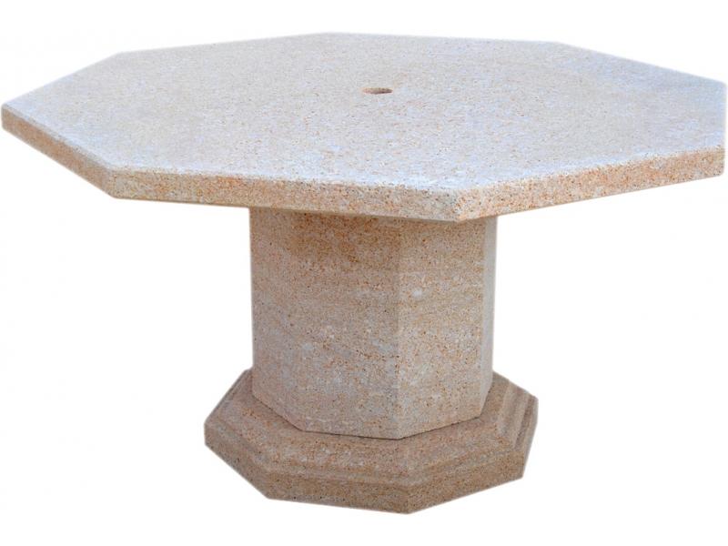 Mesa de piedra natural mod 1 - Mesas de piedra para exterior ...