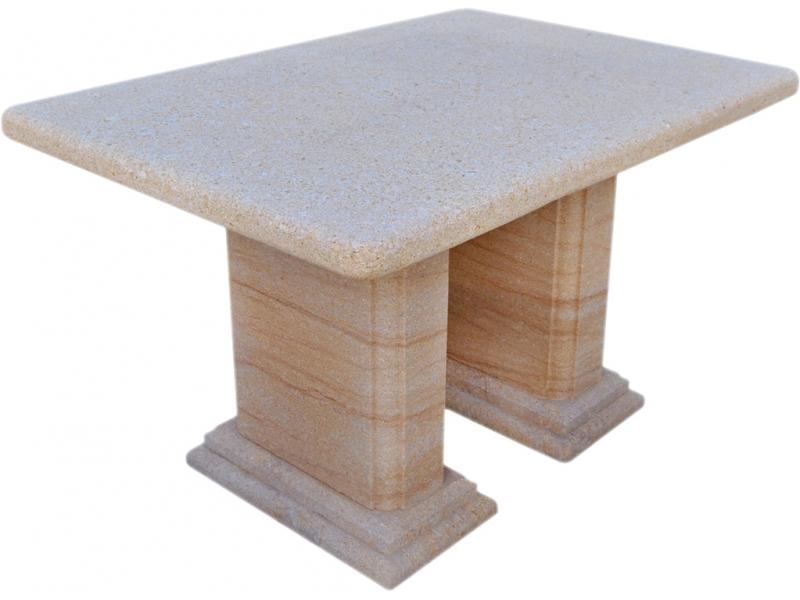 Mesa de piedra natural mod 2 - Mesas de piedra para exterior ...