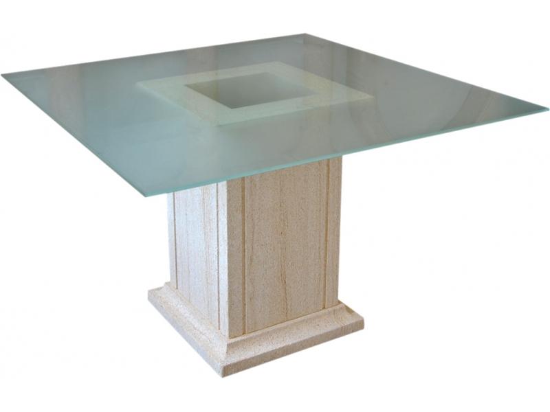 Mesa de piedra natural mod 7 for Mesa de jardin de piedra