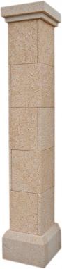 Pilar aplacado de piedra natural mod. Abujardado