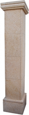 Pilar aplacado de piedra natural mod. Bordón