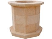 Brocal de pozo en piedra natural mod. 1